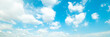 Leinwanddruck Bild Beautiful blue sky cloudsfor background. Panorama of sky.