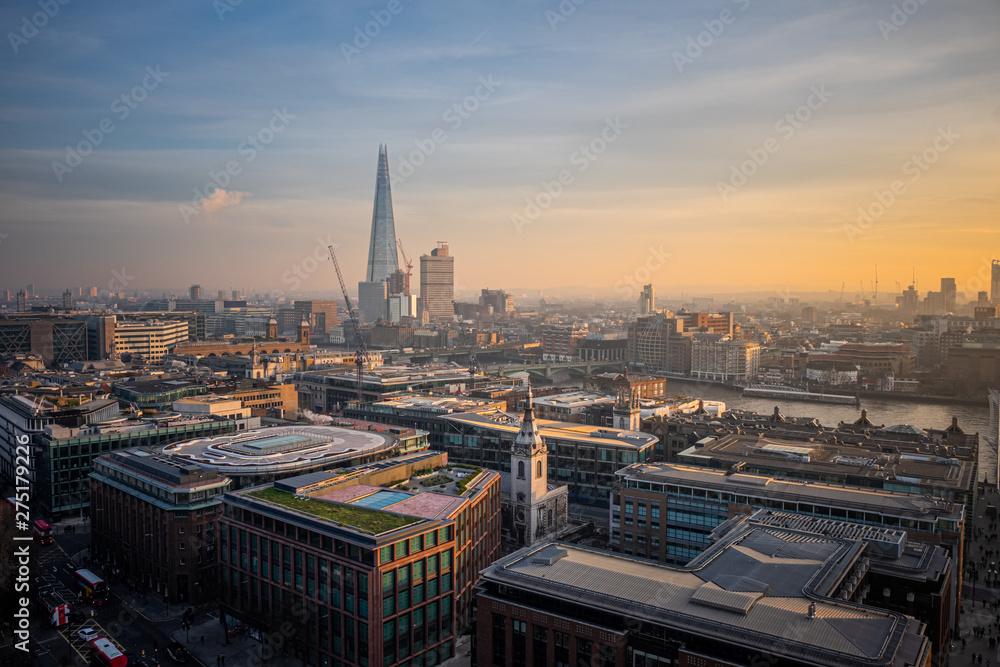 Fototapety, obrazy: Aerial view of London, United Kingdom