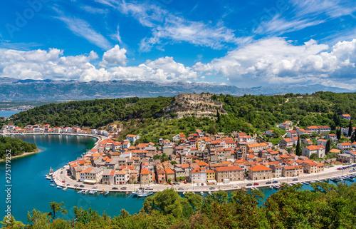 Foto op Plexiglas Europa Colorful old village of Novigrad in Istria county of Croatia with blue river and harbor