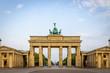 Leinwanddruck Bild Brandenburg gate in summer day, Berlin