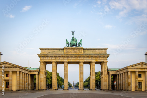 Brandenburg gate in summer day, Berlin Canvas Print