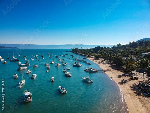Aerial view of Ilhabela beach island, Sao Paulo, Brazil Slika na platnu