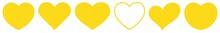 Heart Yellow | Love | Logo | Variations