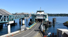 Seattle To Bremerton Ferry At Dock
