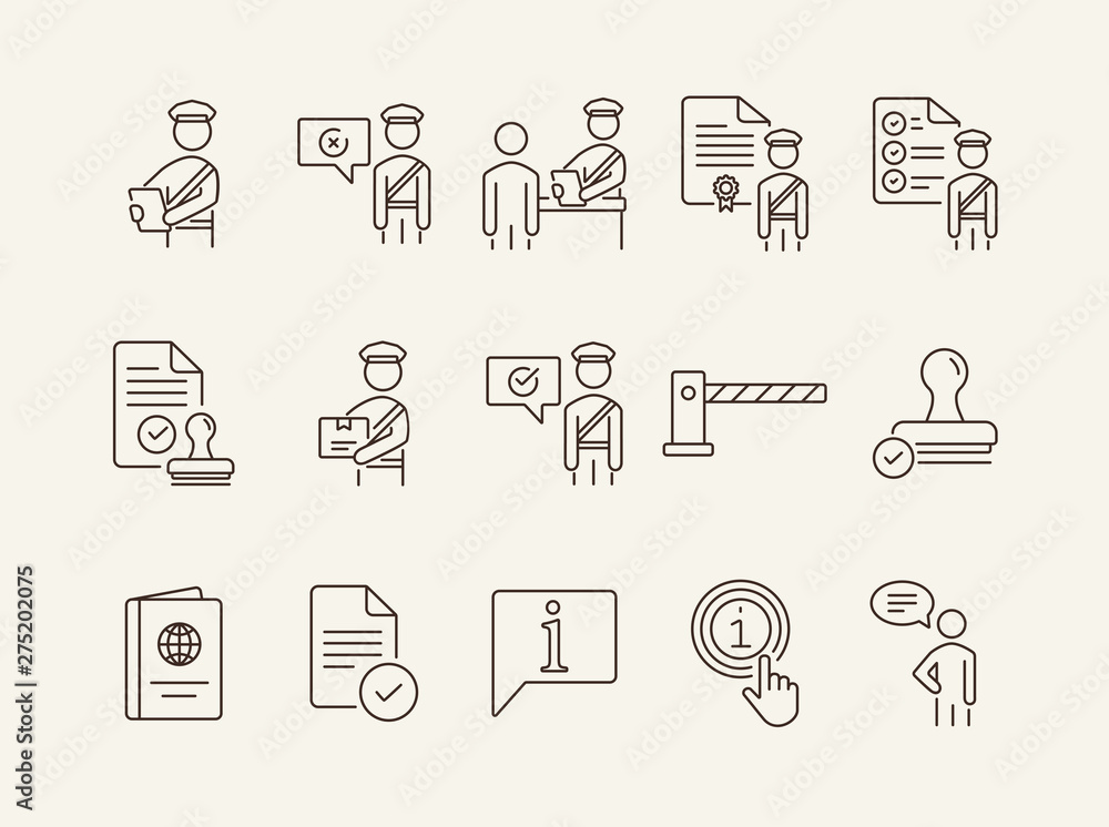 Fotografía Customs control icons