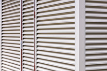 Metal Sheet Louver Or Slats On The Wall Of Warehouse For Ventilation