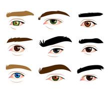 Male Eyes Set