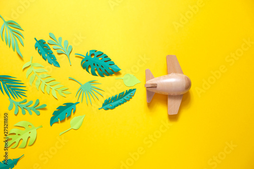 small wooden toy airplane lucky by summer