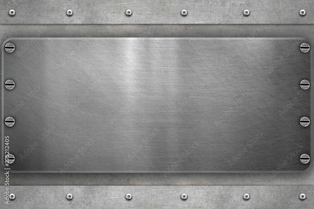 Fototapety, obrazy: Brushed steel frame