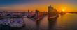 canvas print picture - Sonnenaufgang Elbphilharmonie Hamburg