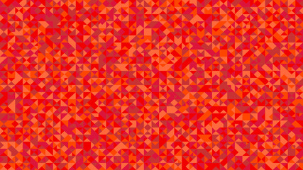 Geometrical triangle mosaic pattern background design - abstract red vector graphic