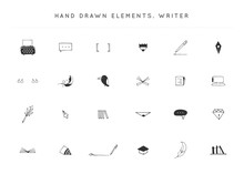 Set Of Vector Hand Drawn Icons...