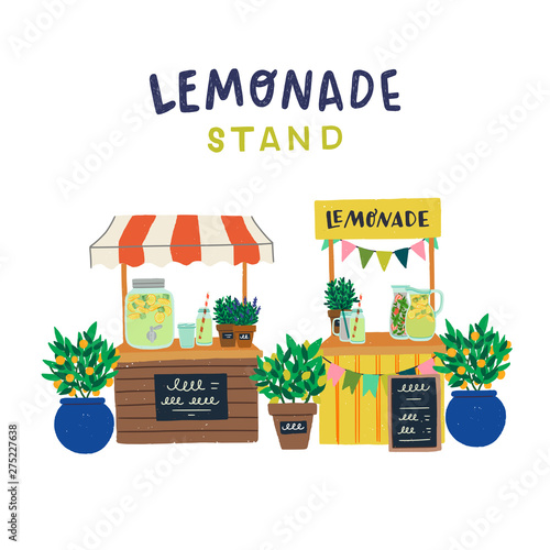 Photo Hand drawn lemonade stands