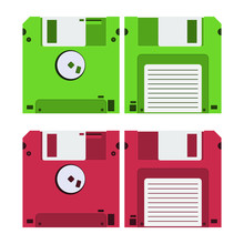 Floppy Disk Vector Design Illu...