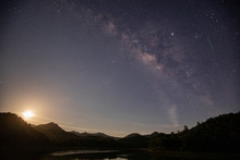 The Milky Way Star Beautiful Sky Above The Lake