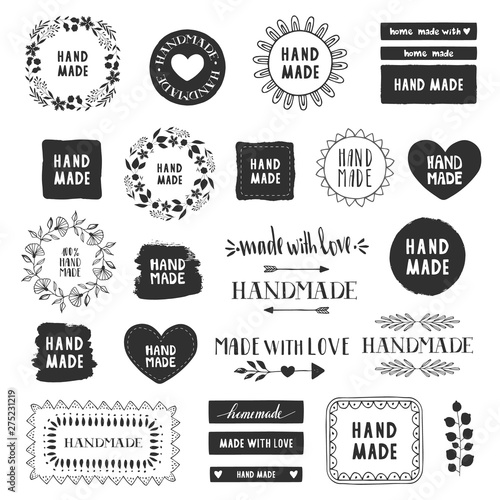 Tablou Canvas Handmade labels