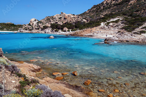 Foto op Aluminium Bleke violet Sardinia, holidays, beautiful beaches of the archipelago of La Maddalena with crystal clear azure water. Italy, beaches in Sardinia.