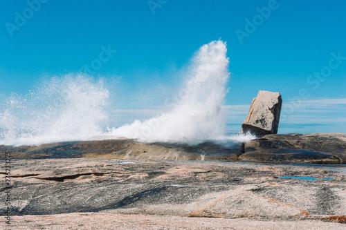 Bicheno Blowhole Coast of Tasmania Australia Fototapet
