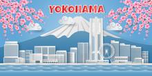 Japan Landmark Travel Banner, ...