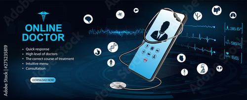 Fotografija Concept of telemedicine and e-health