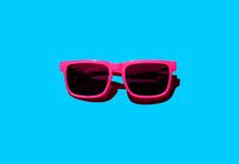 Pink Sunglasses Pattern On Pas...