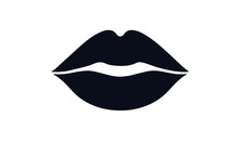 Lips Kiss Vector Design Black ...