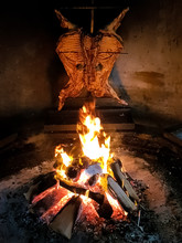 Lamb Made In The Fire In The Patagonian Style