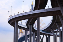 View Of The Bridge Bhumibol Bridge