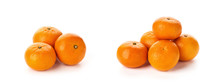 Fresh Tangerines Isolated On W...