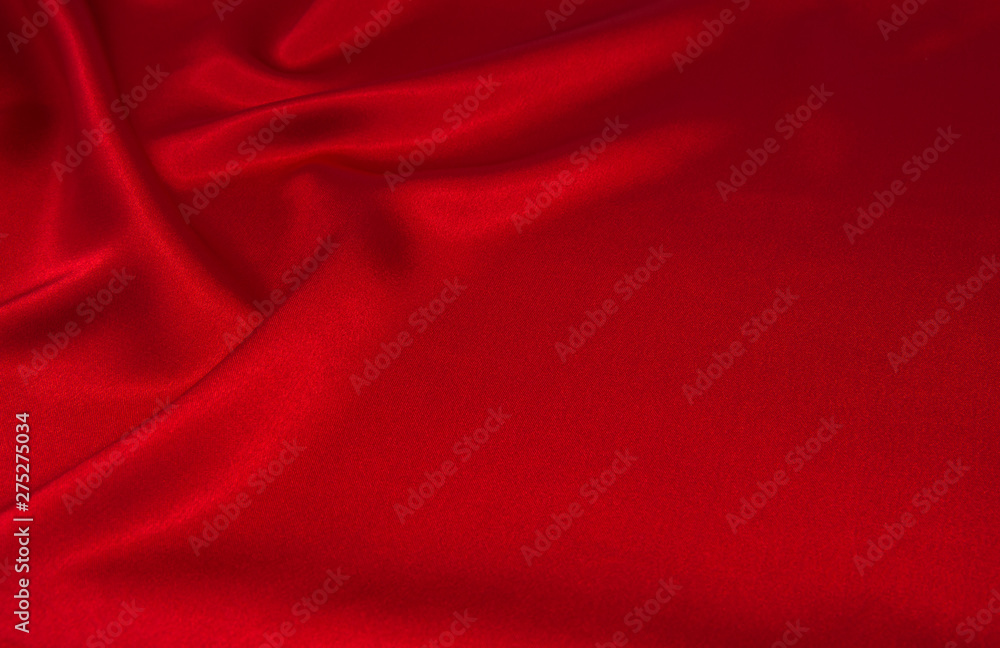 Fototapety, obrazy: red satin or silk fabric as background