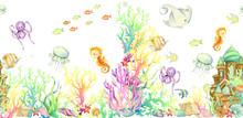 Underwater World, Seamless Pat...