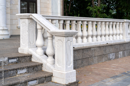 Cuadros en Lienzo white palace railings with blown props