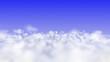 Leinwandbild Motiv fly above the cloud abstract