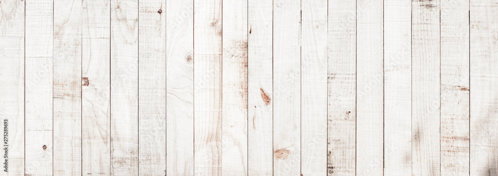 Fototapeta White wood texture background coming from natural tree. Wooden panel with beautiful patterns. Space for your work.