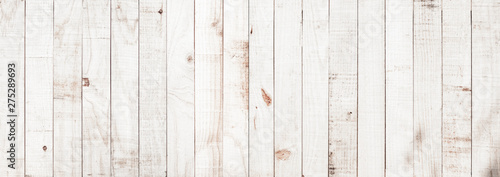 White wood texture background coming from natural tree. Wooden panel with beautiful patterns. Space for your work. - 275289693