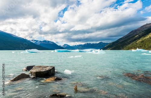 Ice lagoon near Perito Moreno glacier