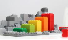 Progress Chart Made Of Brick T...