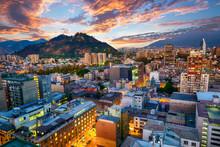 Evening Panorama Of Santiago D...