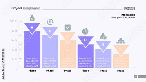 Photo  Six phase percentage process chart design