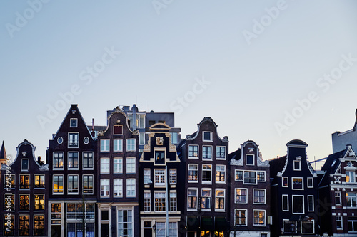 Photo Stands Amsterdam Typical buildings in Amsterdam. Netherlands..