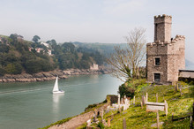 Dartmouth, Schloss, Burg, Dar, River, Hafenstadt, Kingswear, Castle, Devon, Südengland