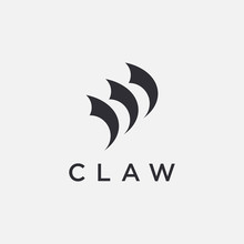 Abstract Minimalist Claw Logo Icon Vector Template On White Background