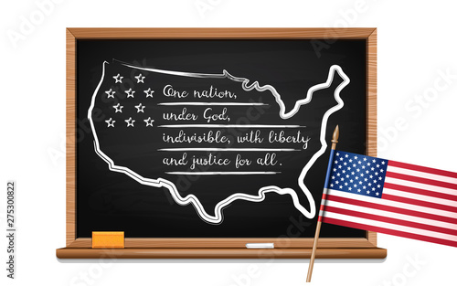 The Pledge of Allegiance of the United States Wallpaper Mural