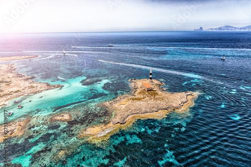 Spoed Foto op Canvas Oceanië formentera sea, spain, aerial view