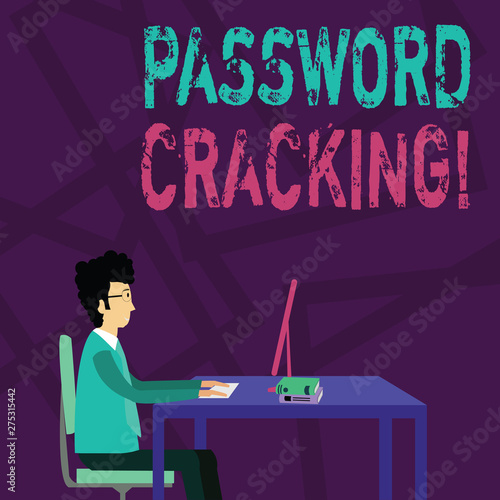 Handwriting text Password Cracking  Conceptual photo