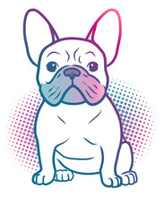 French Bulldog Pop Art Style I...