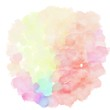 watercolor antique white, light salmon and pastel magenta color. circular painting graphic background illustration