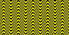 Yellow Amplitude Lines On Black