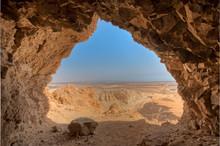 Desert Seen From Cave
