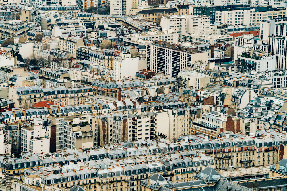 Fototapety, obrazy: Piękny panoramiczny widok na Paryż